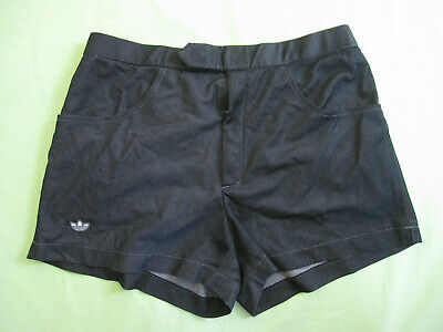 Adidas Noir Satin 80 Vintage Short Brillant Nylon Oldschool Gay TlOZkiuXwP