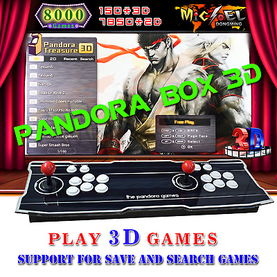 Pandora Box 3D 2200 Games Double Stick Arcade Console Machine RetroGame HDMI KOF