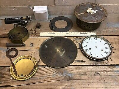 Schatz & Sohne Clock Levers Parts Face Elgin Brass Germany - Parts Only