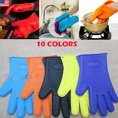 2XPREMIUM FDA DURABLE OVEN MIT MITTS GLOVE HEAT-ABSORBING QUILTED LAYERS KITCHEN