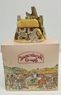 David Winter Cottages CROFTERS COTTAGE Figurine in BOX UK 1986 SCOTTISH Collect.