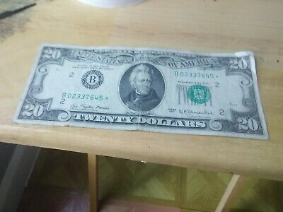 ** STAR NOTE** $20 1977*  Federal Reserve Note ** MORE CURRENCY FOR SALE **#3