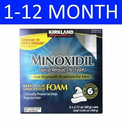 Kirkland Signature Minoxidil Foam 5% - 1 To 12 Month Supply - Expiry 01/2020