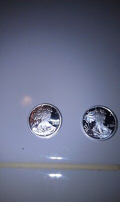 2 - 1/10 Oz Silver Round - Walking Liberty .999 Fine Uncirculated