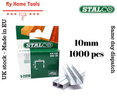 1000pc 10mm STAPLES 53A Pack Duty Gun Tacker Staple Upholstery Galvanised Craft