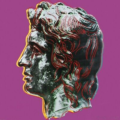 Andy Warhol Alexander the great canvas print giclee 11.7X11.7  reproduction