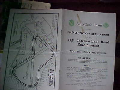 Thruxton Motor cycle race regulations 1951