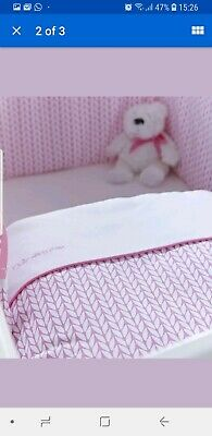 Clair de Lune Barley Bébé Crib/Cradle Quilt and Bumper Pink 2 -Piece