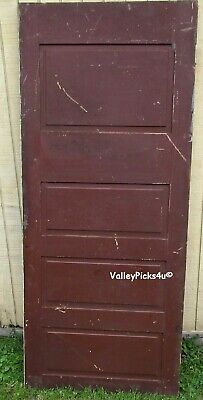 Antique Victorian Architectural Salvage Horizontal Panel Rustic Farm House Door