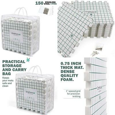 Blocking Mats for Knitting - 9 Extra Thick Boards With 1 Inch Spaced Grid -...