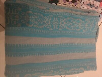 5 mtr kokadi baby wrap in turquoise blue and grey 100%cotton