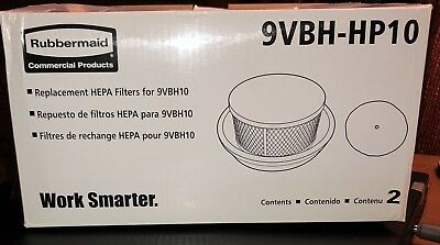Rubbermaid commercial HEPA filter backpack Vacuum 9VBH-HP10. New In Box