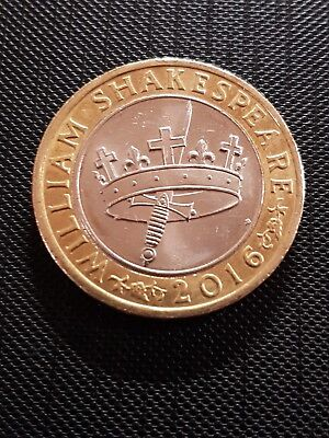 2016 William Shakespeare Histories Crown and Dagger £2 Coin Hunt 180423g