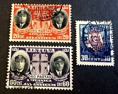 Lithuania Lietuva - 3 nice old used stamps