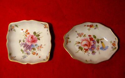 Royal Crown Derby Posies Oval Tray & Square Tray Gold Trim England