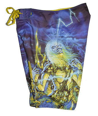 49420f83aeb8c Vans Iron Maiden Live After Death Board Shorts Mens Size 30 Bathing Suit -  Metal