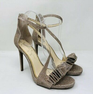 7751a6f0c19 JESSICA SIMPSON REMYIA Bow Dress Sandals Gold Size 7.5 Retail $90
