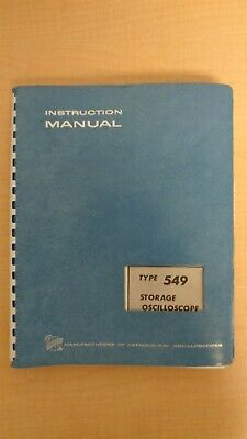 Tektronix Type 549 Storage Oscilloscope Instruction Manual
