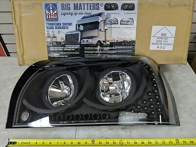 Headlight LH Driver Side for Freightliner Century Class Rig Matters # 40558
