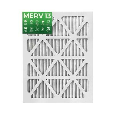 20x25x1 MERV 13 Pleated Air Filters. 12 PACK. Actual Size: 19-1/2 x 24-1/2 x 7/8