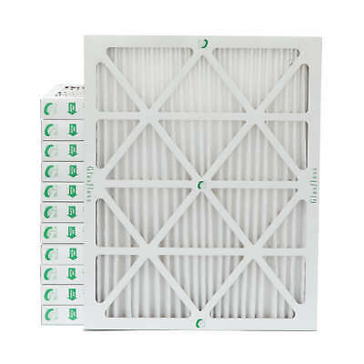 "16x20x2 MERV 10 Pleated 2"" Inch Air Filters for Furnace & AC.  12 PACK."