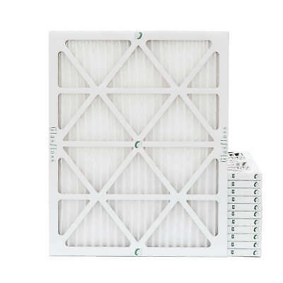 16x20x1 MERV 10 Pleated Air Filters. 12 PACK. Actual Size: 15-1/2 x 19-1/2 x 7/8