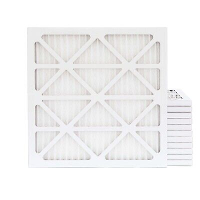 20x20x1 MERV 13 Pleated Air Filters. 12 PACK. Actual Size: 19-1/2 x 19-1/2 x 7/8