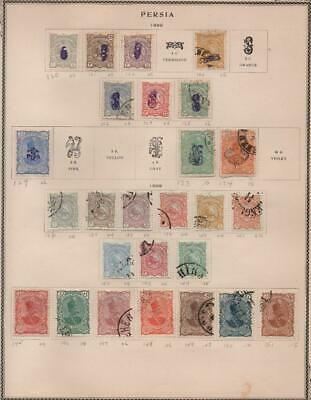 MIDDLE EAST: 1881-1899 Examples - Ex-Old Time Collection - 2 Sides Page (22298)