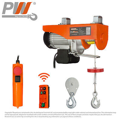 ProWinch Wireless Electric Rope Hoist 880 lbs. capacity - 120V