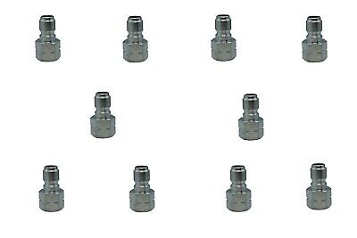 "Pressure Washer Hose Quick Connect Coupler Plug 3/8"" FPT - 10 Pack"