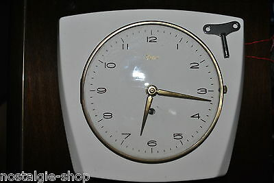 Original 50s/60s Kitchen Clock by Urgos Watch Ceramic, Original 1950s/1960s Rare