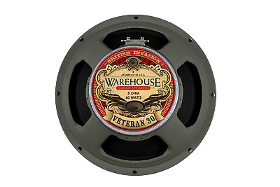 "Warehouse Speakers Veteran 30 60W 12"" Guitar Speaker, 8 ohm"