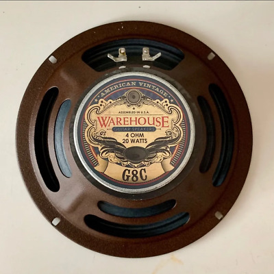 "Warehouse Speakers G8C 20W 8"" Guitar Speaker, 4 ohm"