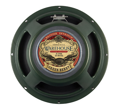 "Warehouse Speakers Green Beret 25W 12"" Guitar Speaker, 8 ohm"