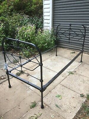 Original Cast Iron Single Bed With Slats