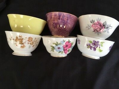 JOB LOT-Mix & Match ~*Floral & Plain*~6 SUGAR BOWLS -Weddings,Tea Rooms