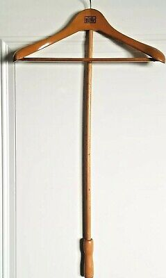FITWELL #4 C.BIRMBAUM Wooden Clothes Hanger with Extension Pole Made in Germany