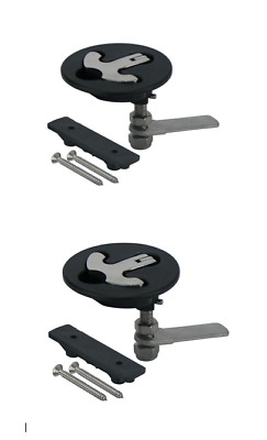 T-Handle Latch x 2, Reinforced Nylon Latch With 316g Stainless Steel Handle