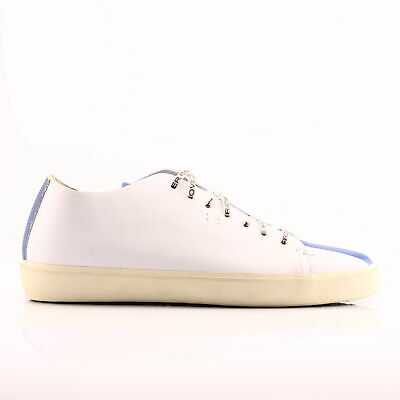 LEATHER CROWN BASSA Calzatura Uomo Sneakers Pelle Bianco