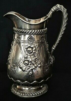 Water Pitcher, Classical, Gorham silverplate, 2qt, Lewis Sherry, NYC, 11""