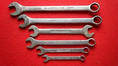 6 x Britool Metric Combination Spanners RJM Series, Hand Tool Open End