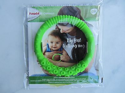Panadol Baby Children's Green Silicone Teething Ring Brand New Original Pkging