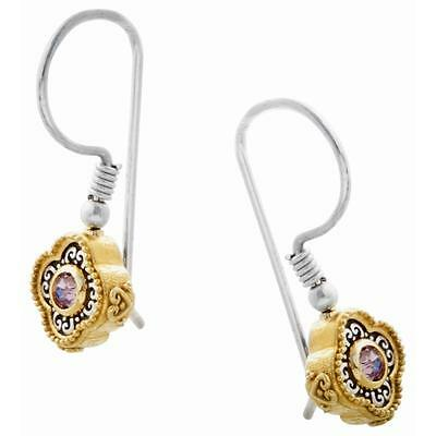 S215 ~ Sterling Silver & Swarovski Medieval Drop Earrings