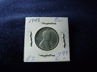 1943 Lincoln STEEL Wheat Cent  REAL BU FREE SHIPPING  A-3