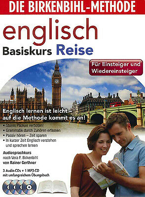 Birkenbihl English Basiskurs Reise Audio-Sprachkurs 4 CD,s+Booklett Neu+in Folie