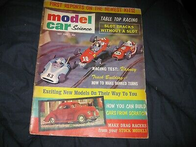 VINTAGE 1/24 MODEL Car Science > May 1964 < Slot Car Magazine In Very Nice  Cond