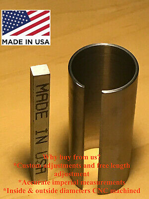 "1-1/8"" x 1-1/4"" x 3"" Shaft Adapter Pulley Bore Reducer Sleeve Bushing Sleeve"