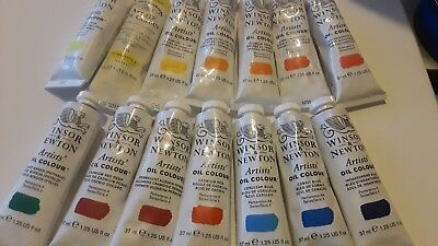 (14) WINSOR & NEWTON Artists Oil Colours -Series 4- Mixed LOT of 37ml Tubes !