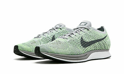 6134bc5bd720 NIKE FLYKNIT RACER Mens Running Shoes 10 White Cool Grey Ghost Green ...