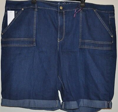 313c774c7f6f8 Gloria Vanderbilt Women s Plus Denim Slimming Roll cuff Bermuda Shorts Size  24W